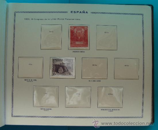 Sellos: ALBUN COLECCION DE SELLOS ESPAÑA DESDE 1930 A 1949, NUEVOS CON FIJASELLOS Y CIRCULADOS, 65 PAGINAS - Foto 16 - 37442271