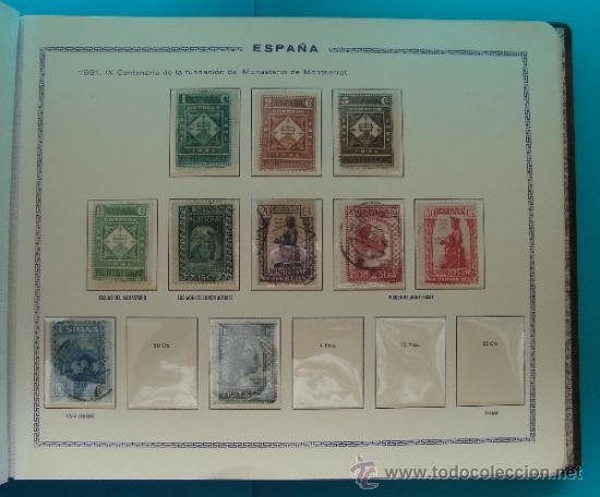 Sellos: ALBUN COLECCION DE SELLOS ESPAÑA DESDE 1930 A 1949, NUEVOS CON FIJASELLOS Y CIRCULADOS, 65 PAGINAS - Foto 20 - 37442271