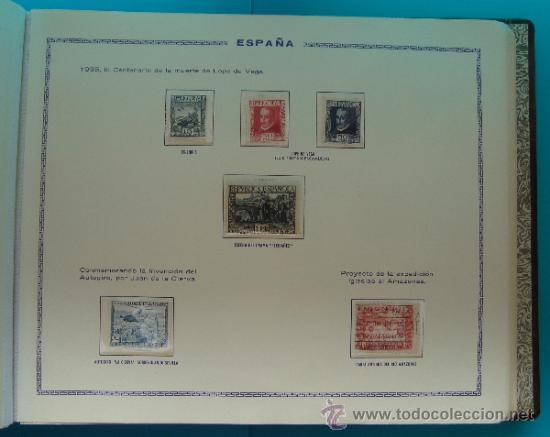 Sellos: ALBUN COLECCION DE SELLOS ESPAÑA DESDE 1930 A 1949, NUEVOS CON FIJASELLOS Y CIRCULADOS, 65 PAGINAS - Foto 25 - 37442271