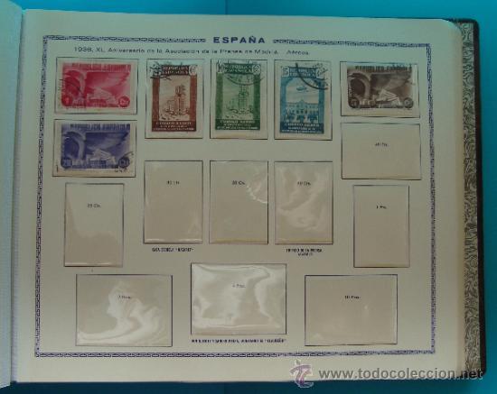 Sellos: ALBUN COLECCION DE SELLOS ESPAÑA DESDE 1930 A 1949, NUEVOS CON FIJASELLOS Y CIRCULADOS, 65 PAGINAS - Foto 27 - 37442271