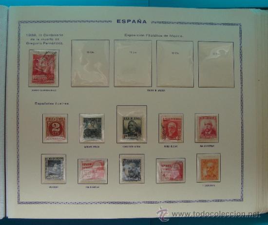 Sellos: ALBUN COLECCION DE SELLOS ESPAÑA DESDE 1930 A 1949, NUEVOS CON FIJASELLOS Y CIRCULADOS, 65 PAGINAS - Foto 28 - 37442271