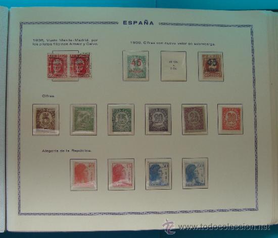 Sellos: ALBUN COLECCION DE SELLOS ESPAÑA DESDE 1930 A 1949, NUEVOS CON FIJASELLOS Y CIRCULADOS, 65 PAGINAS - Foto 29 - 37442271