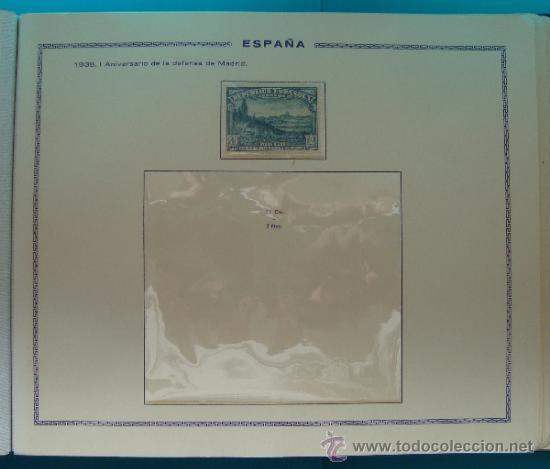 Sellos: ALBUN COLECCION DE SELLOS ESPAÑA DESDE 1930 A 1949, NUEVOS CON FIJASELLOS Y CIRCULADOS, 65 PAGINAS - Foto 30 - 37442271