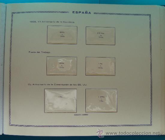 Sellos: ALBUN COLECCION DE SELLOS ESPAÑA DESDE 1930 A 1949, NUEVOS CON FIJASELLOS Y CIRCULADOS, 65 PAGINAS - Foto 32 - 37442271