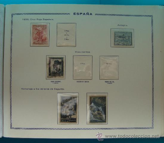 Sellos: ALBUN COLECCION DE SELLOS ESPAÑA DESDE 1930 A 1949, NUEVOS CON FIJASELLOS Y CIRCULADOS, 65 PAGINAS - Foto 34 - 37442271