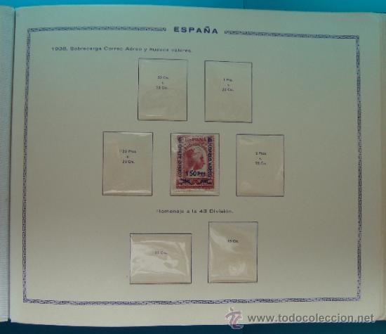 Sellos: ALBUN COLECCION DE SELLOS ESPAÑA DESDE 1930 A 1949, NUEVOS CON FIJASELLOS Y CIRCULADOS, 65 PAGINAS - Foto 37 - 37442271