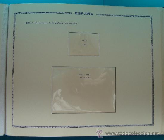Sellos: ALBUN COLECCION DE SELLOS ESPAÑA DESDE 1930 A 1949, NUEVOS CON FIJASELLOS Y CIRCULADOS, 65 PAGINAS - Foto 38 - 37442271