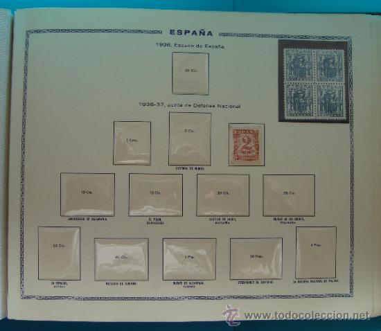 Sellos: ALBUN COLECCION DE SELLOS ESPAÑA DESDE 1930 A 1949, NUEVOS CON FIJASELLOS Y CIRCULADOS, 65 PAGINAS - Foto 41 - 37442271