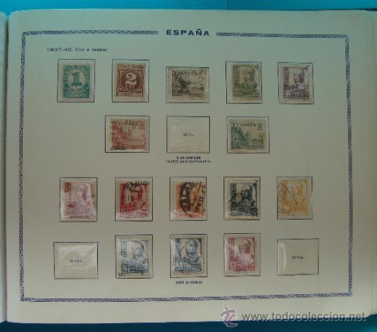 Sellos: ALBUN COLECCION DE SELLOS ESPAÑA DESDE 1930 A 1949, NUEVOS CON FIJASELLOS Y CIRCULADOS, 65 PAGINAS - Foto 42 - 37442271
