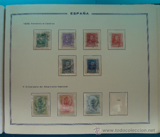 Sellos: ALBUN COLECCION DE SELLOS ESPAÑA DESDE 1930 A 1949, NUEVOS CON FIJASELLOS Y CIRCULADOS, 65 PAGINAS - Foto 45 - 37442271