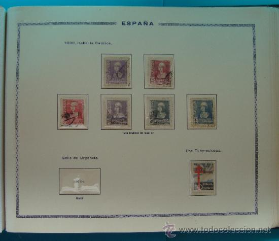 Sellos: ALBUN COLECCION DE SELLOS ESPAÑA DESDE 1930 A 1949, NUEVOS CON FIJASELLOS Y CIRCULADOS, 65 PAGINAS - Foto 48 - 37442271