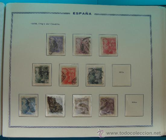Sellos: ALBUN COLECCION DE SELLOS ESPAÑA DESDE 1930 A 1949, NUEVOS CON FIJASELLOS Y CIRCULADOS, 65 PAGINAS - Foto 50 - 37442271