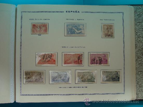 Sellos: ALBUN COLECCION DE SELLOS ESPAÑA DESDE 1930 A 1949, NUEVOS CON FIJASELLOS Y CIRCULADOS, 65 PAGINAS - Foto 51 - 37442271