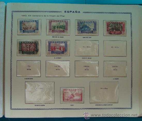 Sellos: ALBUN COLECCION DE SELLOS ESPAÑA DESDE 1930 A 1949, NUEVOS CON FIJASELLOS Y CIRCULADOS, 65 PAGINAS - Foto 52 - 37442271