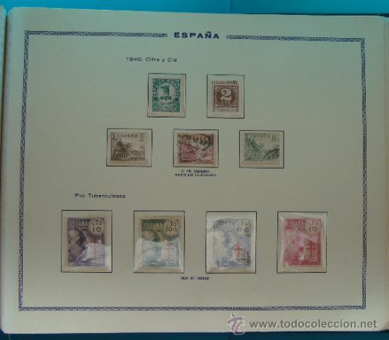 Sellos: ALBUN COLECCION DE SELLOS ESPAÑA DESDE 1930 A 1949, NUEVOS CON FIJASELLOS Y CIRCULADOS, 65 PAGINAS - Foto 54 - 37442271