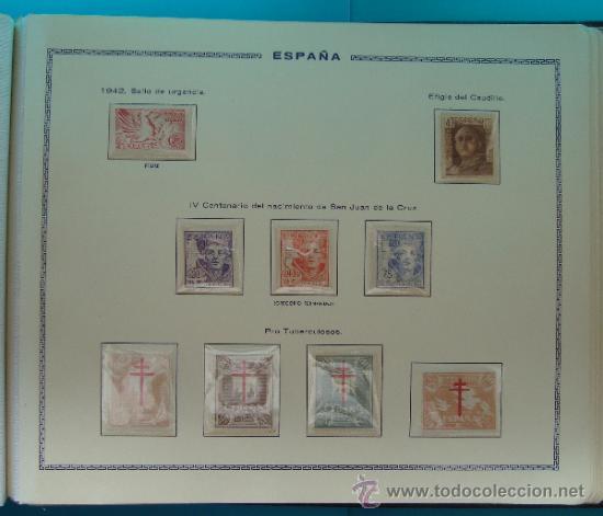 Sellos: ALBUN COLECCION DE SELLOS ESPAÑA DESDE 1930 A 1949, NUEVOS CON FIJASELLOS Y CIRCULADOS, 65 PAGINAS - Foto 57 - 37442271