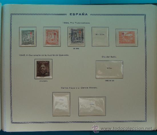 Sellos: ALBUN COLECCION DE SELLOS ESPAÑA DESDE 1930 A 1949, NUEVOS CON FIJASELLOS Y CIRCULADOS, 65 PAGINAS - Foto 60 - 37442271