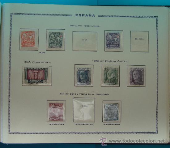 Sellos: ALBUN COLECCION DE SELLOS ESPAÑA DESDE 1930 A 1949, NUEVOS CON FIJASELLOS Y CIRCULADOS, 65 PAGINAS - Foto 61 - 37442271