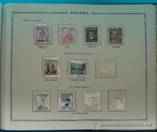 Sellos: ALBUN COLECCION DE SELLOS ESPAÑA DESDE 1930 A 1949, NUEVOS CON FIJASELLOS Y CIRCULADOS, 65 PAGINAS - Foto 65 - 37442271