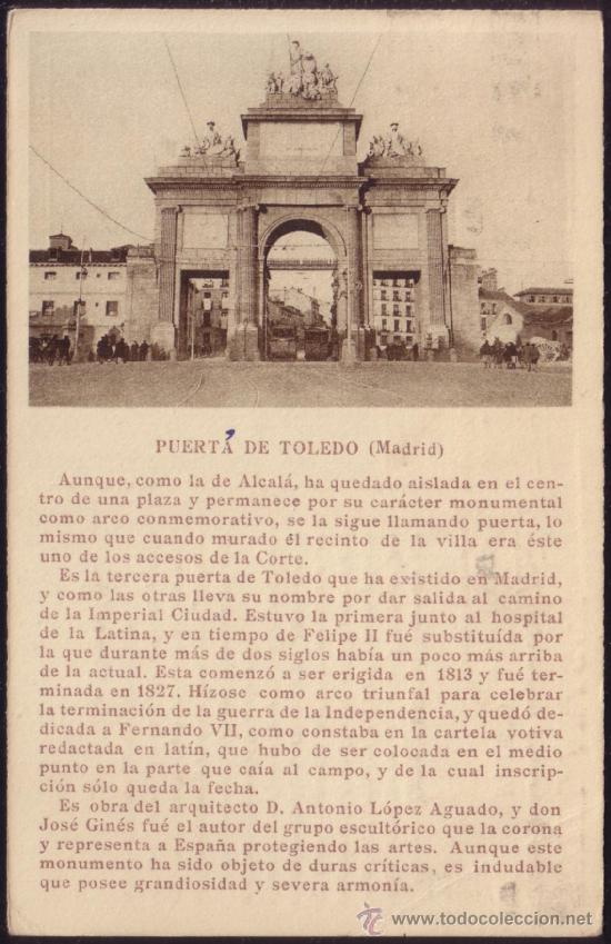 Sellos: LADO VISTA: PUERTA DE TOLEDO. - Foto 2 - 37490777