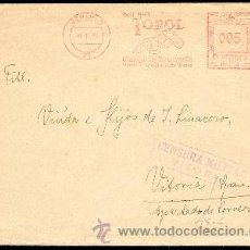 Sellos: ALAVA - FRANQUEO MECÁNICO - CARTA CIRC. DESDE BERLÍN 1937. Lote 37863633