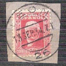 Sellos: EDIFIL 659. MATASELLO FECHADOR. LEON. EN FRAGMENTO.. Lote 38011675