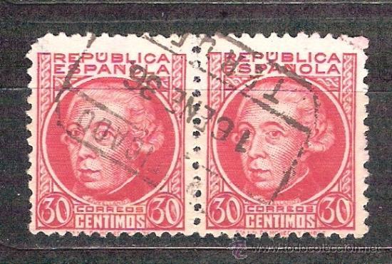 EDIFIL 687. MATASELLO CERTIFICADO. TERUEL. (Sellos - España - II República de 1.931 a 1.939 - Usados)