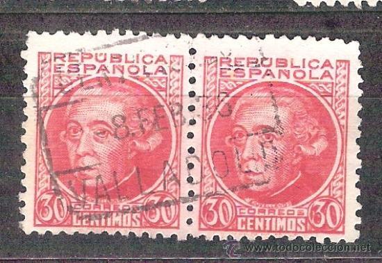 EDIFIL 687. MATASELLO CERTIFICADO. VALLADOLID. (Sellos - España - II República de 1.931 a 1.939 - Usados)