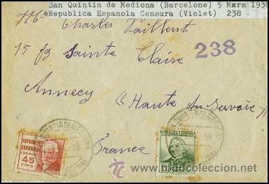 1938.- CARTA BICOLOR DE