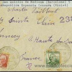Sellos: 1938.- CARTA BICOLOR DE