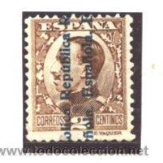Sellos: ESPAÑA 1931 - EDIFIL NRO. 593 - ALFONSO XIII - REPUBLICA E. - USADO. Lote 96422184