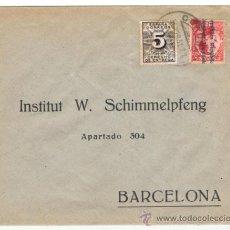 Sellos: CIRCULADA 1931 DE CORUÑA A BARCELONA. Lote 38526373