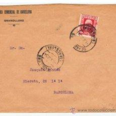 Sellos - circulada 1934 de granollers a barcelona banco comercial de barcelona - 38526435