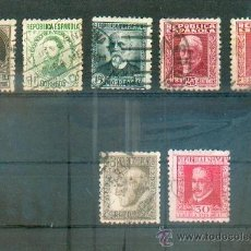 Sellos: PERSONAJES.- SERIE DE 1931 CON CIFRA AL DORSO.- 655/59 + RAMÓN Y CAJAL + LOPE DE VEGA. Lote 38600626