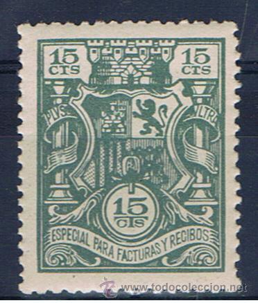 ESPECIAL PARA FACTURAS Y RECIBOS REPUBLICANO 1932 EDIFIL 15 NUEVO** (Sellos - España - II República de 1.931 a 1.939 - Nuevos)