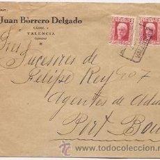Sellos: VALENCIA. SOBRE CIRCULADO. JUAN BORRERO DELGADO. Lote 38615751