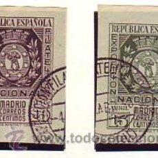 Sellos: 727/28- EXPO FILAT. MADRID 1936. SERIE USADA LUJO. CAT.- 136 €.. Lote 38817192