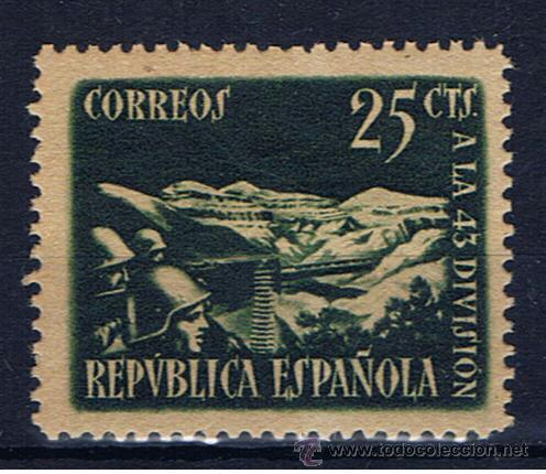 HOMENAJE 43 DIVISION EDIFIL 787 1838 NUEVO ** VALOR 2013 CATALOGO 38 EUROS (Sellos - España - II República de 1.931 a 1.939 - Nuevos)