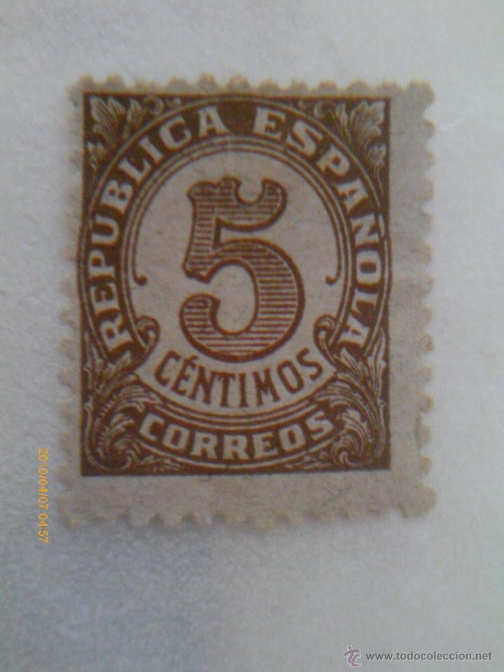 II REPUBLICA ESPAÑOLA - 5 CENTIMOS (Sellos - España - II República de 1.931 a 1.939 - Usados)
