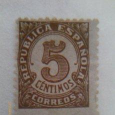 Sellos: II REPUBLICA ESPAÑOLA - 5 CENTIMOS. Lote 39374469