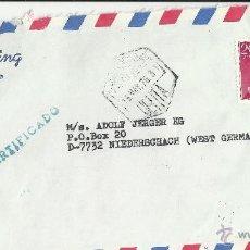 Sellos: CEUTA CC CORREO AEREO MAT HEXAGONAL CERTIFICADO SELLOS BASICA FRANCO. Lote 39991894