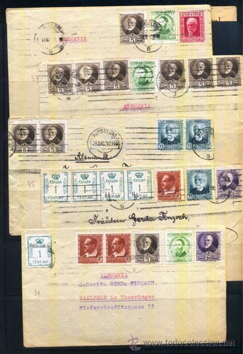 Sellos: LOTE DE HISTORIA POSTAL PERIODO II REPUBLICA - Foto 2 - 40349435
