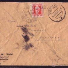 Sellos: ESPAÑA. (CAT. 669). 1933. SOBRE DE VALENCIA A BARCELONA. MAT. *VALENCIA/LISTA* Y *RECLAMADO*. RARA.. Lote 25830737
