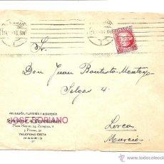 Sellos: CARTA CIRCULADA DE MADRID A LORCA (MURCIA) JUNIO 1936 - RELOJERÍA JOSÉ SORIANO. Lote 40893981
