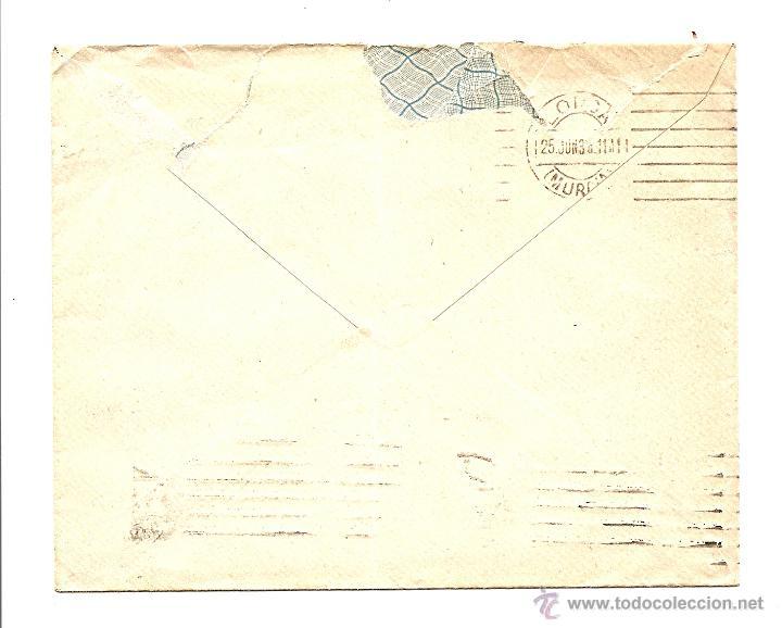 Sellos: CARTA CIRCULADA DE MADRID A LORCA (MURCIA) JUNIO 1936 - RELOJERÍA JOSÉ SORIANO - Foto 2 - 40893981