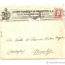 Sellos: CARTA CIRCULADA DE MADRID A MONTIJO (BADAJOZ) AÑO 1933 - UNIÓN ESPAÑOLA DE EXPLOSIVOS - CON CARTA. Lote 40894108