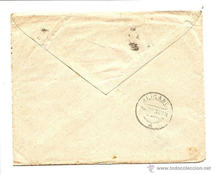 Sellos: CARTA CIRCULADA DE MADRID A ALICANTE AÑO 1931 - POMPAS FÚNEBRES ARENAL 4 MADRID - Foto 2 - 40894522
