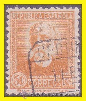 1931 PERSONAJES, EDIFIL Nº 661 (O) (Sellos - España - II República de 1.931 a 1.939 - Usados)