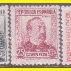 Sellos: 1933 PERSONAJES, EDIFIL Nº 681 A 688 * . Lote 42064953