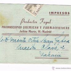 Sellos: IMPRESOS PRODUCTOS FAGUT - MADRID. Lote 42069255
